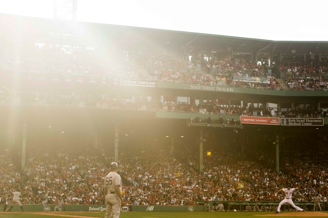 BOSTON, MA - JULY 15: Chris Sale #41 of the Boston Red Sox runs delivers during the eighth inning of a game against the New York Yankees on July 15, 2017 at Fenway Park in Boston, Massachusetts. (Photo by Billie Weiss/Boston Red Sox/Getty Images) *** Local Caption *** Chris Sale