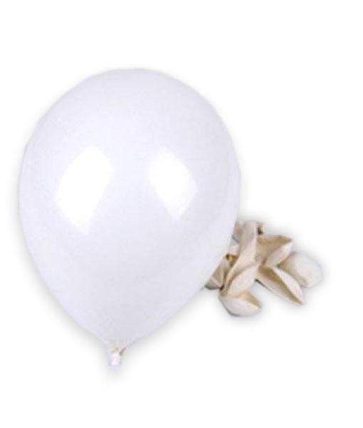 """10 stk. billige """"non toxic"""" kvalitets hvide balloner til børnefødselsdag"""