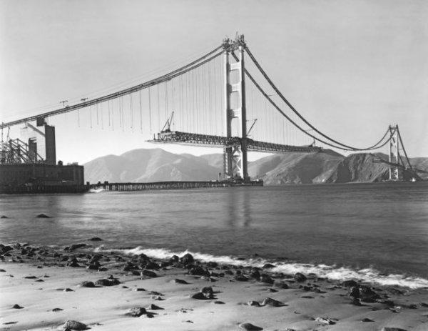 Строительство моста Золотые Ворота (27 фото) » Интересные ...