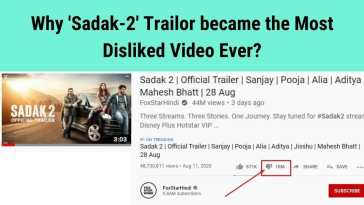 why Sadak 2 official Trailor became the most disliked Youtube video ever world record