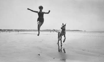 Lartigue, 1926. Lartigue was one of the first with a camera fast enough to stop motion.