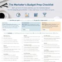 budget prep checklist