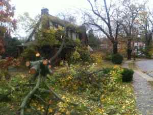 Hurricane Sandy Springfield Photo Essay 1:59 p.m. Oct. 30, 2012