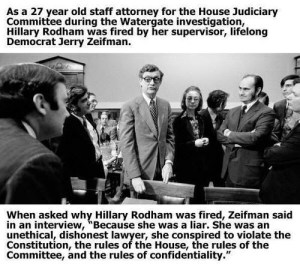 Hillary Fired Due To Dishonesty?