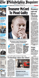 Rob McCord Democrat -- And Corporate Connected Philadelphia Inquirer Rob McCord Headline
