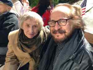 Philadelphia held its first Veterans Day Parade, yesterday, Nov. 8, and among the participants on the Delaware County Veterans Memorial float were Margaret Lozinak Lawrence and noted actor and director Peter de Feo. Mrs. Lawrence, a Korean War veteran, will be among the recipients of this year's Freedom Medal bestowed by the Memorial and Delaware County Council. Way to go Mom. The float was supplied by Guy Fizzano of Fizzano Brothers and the arrangements were made by Barbara Ann Zippi of Artemis Productions. Philly Veterans Day Parade