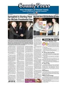 Senator John McCain Started 2008 Campaign In Springfield, Pa.