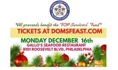 Dom's 7 Fish Feast Benefits FOP Survivor's Fund -- Dom Giordano's annual Feast of the 7 Fishes is 5:30-8:30 p.m., Dec. 16 at Gallo's Seafod, 8101 Roosevelt Blvd., Philadelphia, Pa. 19152.