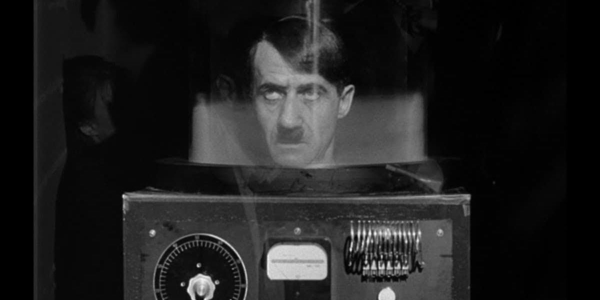 This is a shot from They Saved Hitler's Brain, but it's misleading because for most of the movie, the head is in a jar. Just like Futurama.