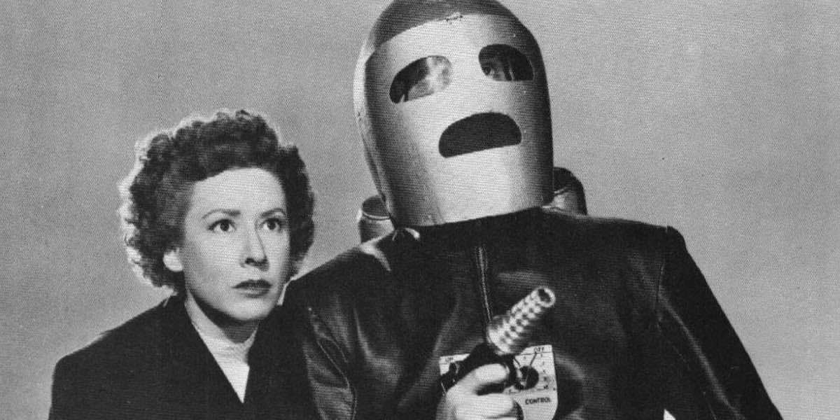 A publicity shot from King of the Rocket Men used to announce the new Bill Watches Serials podcast for Patrons only!