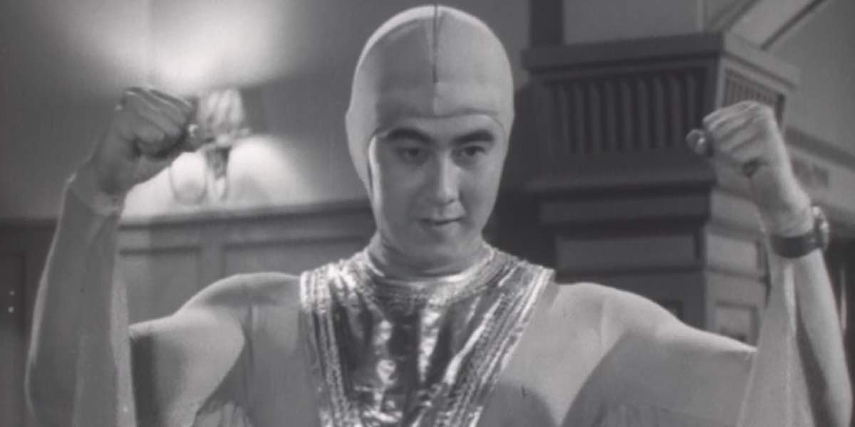 This is a photo of Starman, the hero from Atomic Rulers of the World