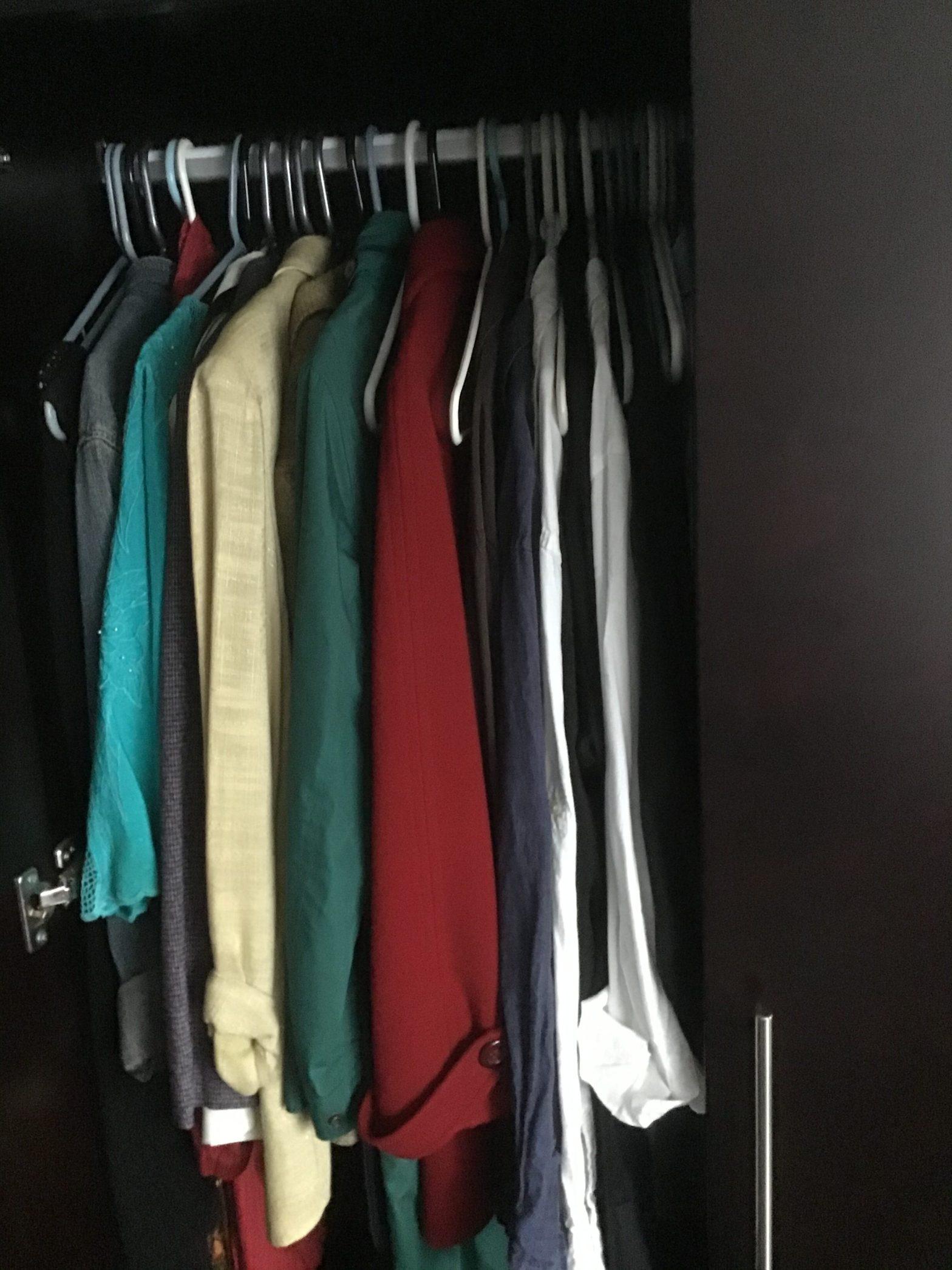 Closet as she left it