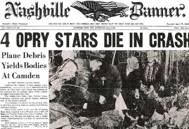 Plane crash headline