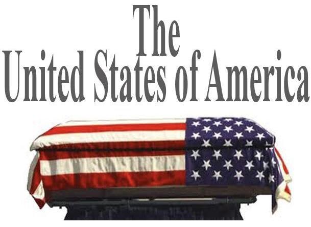FLAG DRAPED CASKET