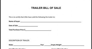 trailer bill of sale florida free download