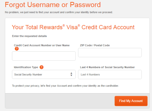 total visa card login bill pay help - Total Visa Unsecured Credit Card