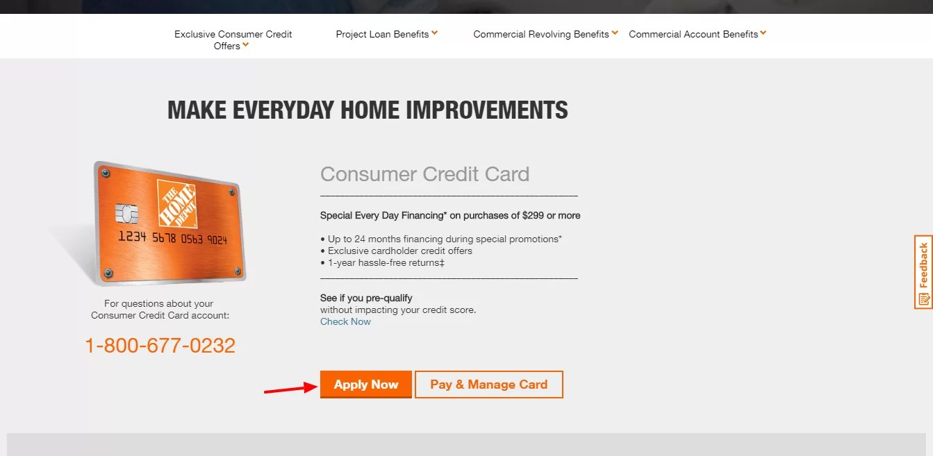 Shop at the home depot using your registered the home depot commercial credit card(s) and you'll automatically earn at least 10¢/gal in fuel rewards savings for every $100 of qualifying purchases. www.homedepot.com/c/Credit_Center - Payment Guide For Home Depot Credit Card Bill Online