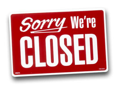 Image result for image of closed shop sign