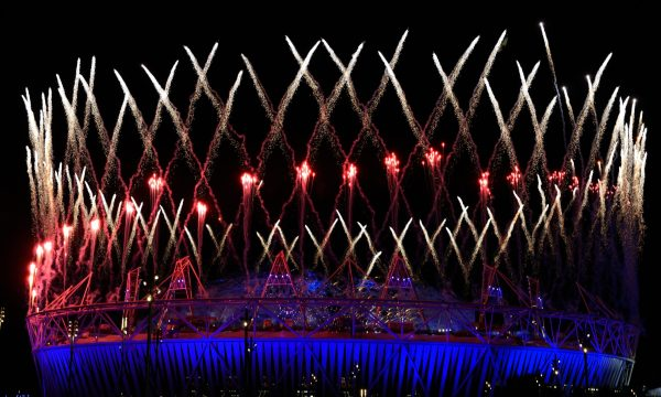 London Olympics Stadium Fireworks