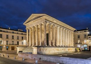 Maison Carree, Temple of Augustus, Nimes, France