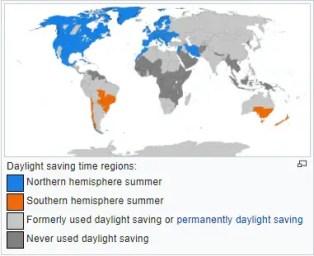 Daylight Saving Time World