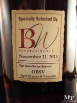 four roses private selection OBSV Bourbon Women 4