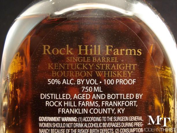 Rock Hill Farms back closeup