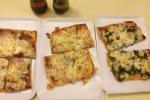 Carn Bier,Espinac,Gorgonzola pizzes, Lucania ii Barcelona