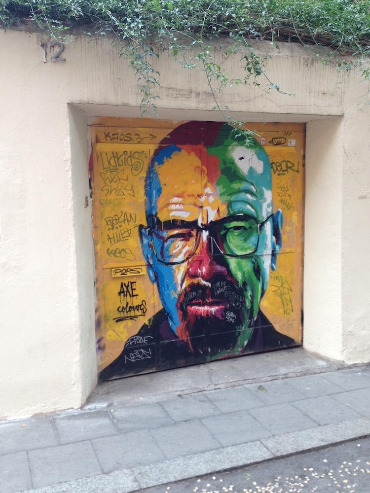 Walter White AKA Bryan Cranston, Gràcia, Barcelona by Bill sinclair