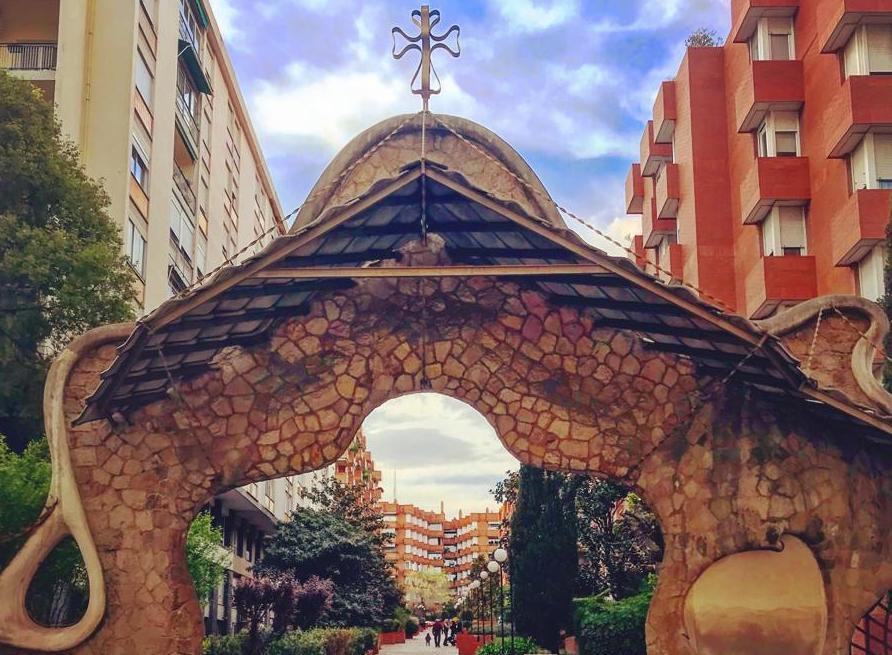 Architectural details Façana Miralles, Sarrià, Barcelona, cris rosique