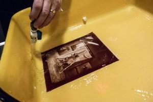 washing albumen print