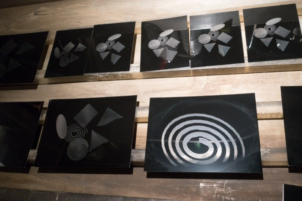 several of the etched plates BEFORE making the wet-plate photograms