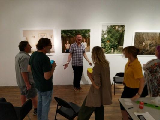 Michael Foley leading an Exhibition Lab critique