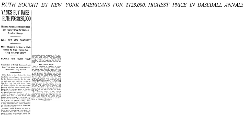 From the New York Times of January 6, 1920