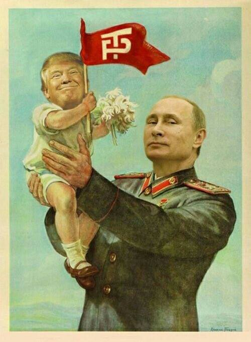 Putin and Trump in each other's arms