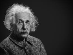 picture of einstein as an old man