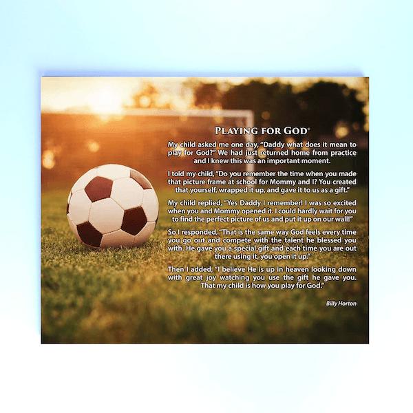 Billy Horton Poster Paper Soccer