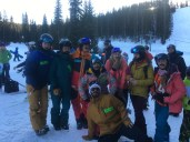 Some of the pro athletes having lots of fun at Ski with the Pro's Weekend.