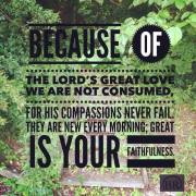 the lords great love