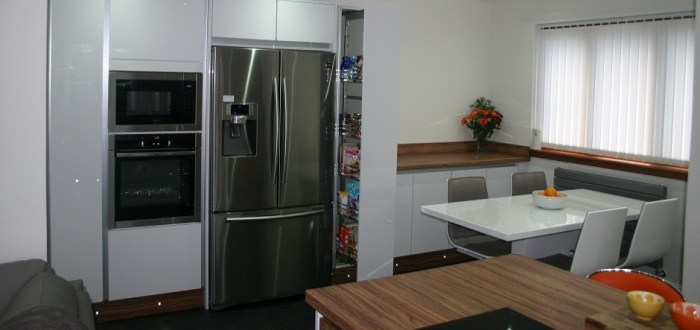 image for Kitchen Design, Supply And Installation Of The Crown Imperial White Olive  range. By Billy Walker Joinery Services Ltd, Fraserburgh, Aberdeenshire.