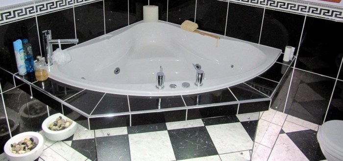 image for Bathroom Design, Supply And Installation Of The Corner Bath  range. By Billy Walker Joinery Services Ltd, Fraserburgh, Aberdeenshire.