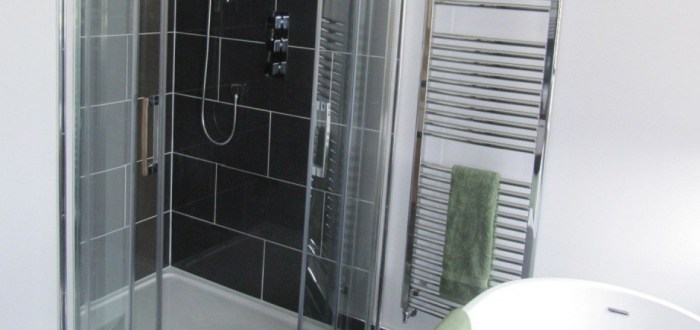 image for Bathroom Design, Supply And Installation Of The Slate Feature Wall  range. By Billy Walker Joinery Services Ltd, Fraserburgh, Aberdeenshire.