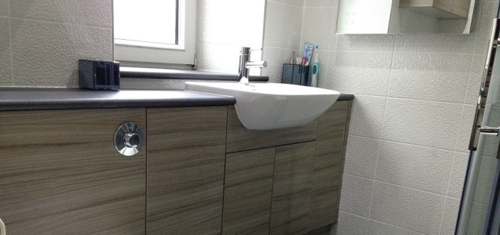 image for Bathroom Design, Supply And Installation Of The Eco Driftwood  range. By Billy Walker Joinery Services Ltd, Fraserburgh, Aberdeenshire.