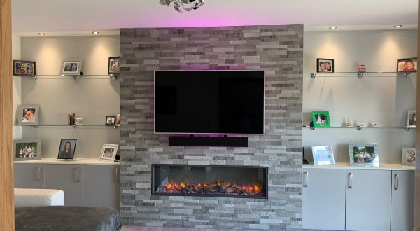 image for Joinery Design, Supply And Installation Of Crown Tiles Lounge 1. By Billy Walker Joinery Services Ltd, Fraserburgh, Aberdeenshire.