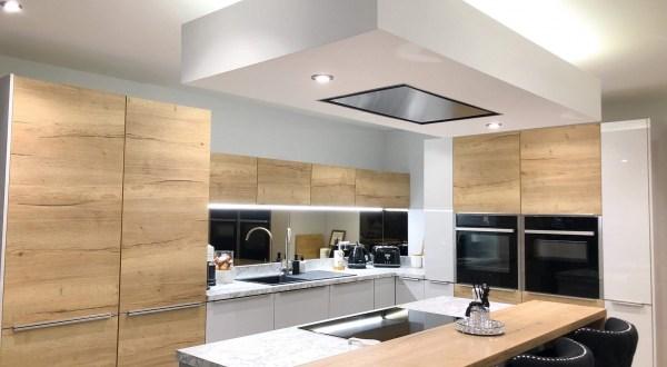 image for Kitchen Design, Supply And Installation Of The Kitchen Mirrored Splashback 1. By Billy Walker Joinery Services Ltd, Fraserburgh, Aberdeenshire.