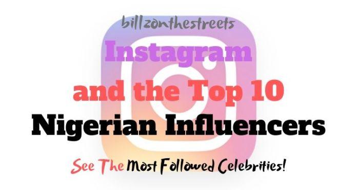 Most followed Nigerian celebrity on Instagram