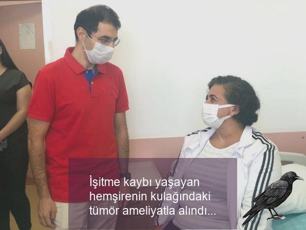 isitme kaybi yasayan hemsirenin kulagindaki tumor ameliyatla alindi 3 tdsdszti