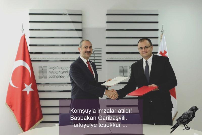 komsuyla imzalar atildi basbakan garibasvili turkiyeye tesekkur ediyoruz 0
