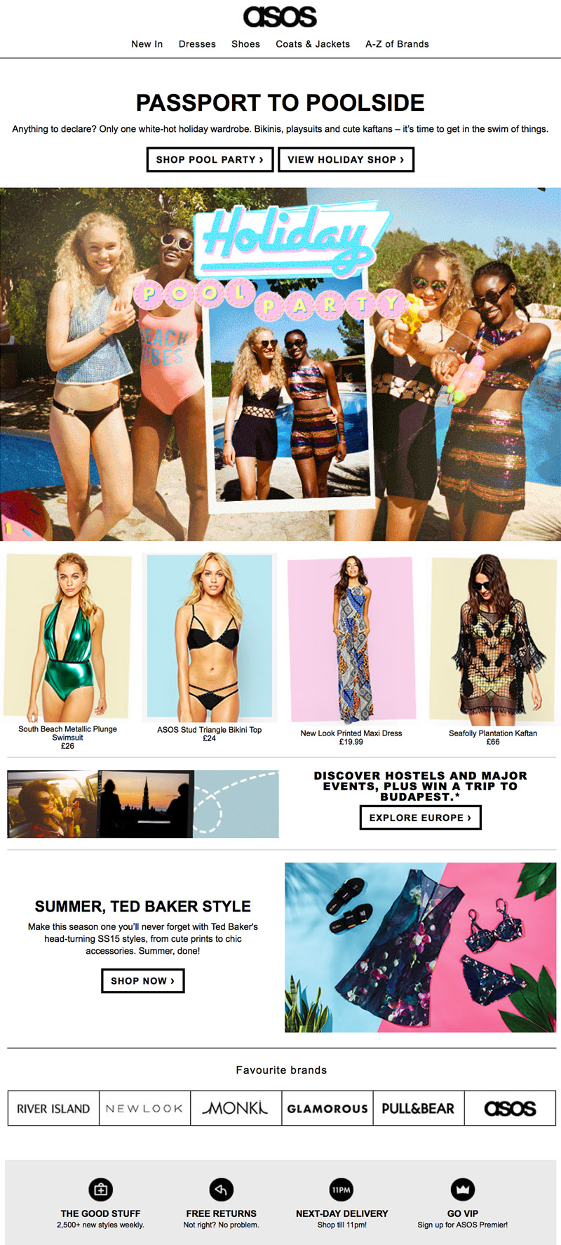 Asos - Holiday Pool Party