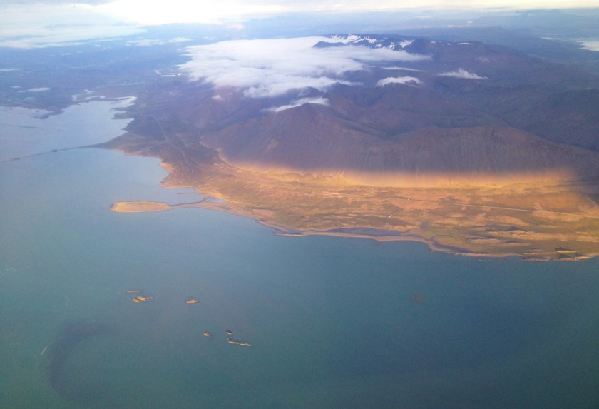 West Fjords from above.